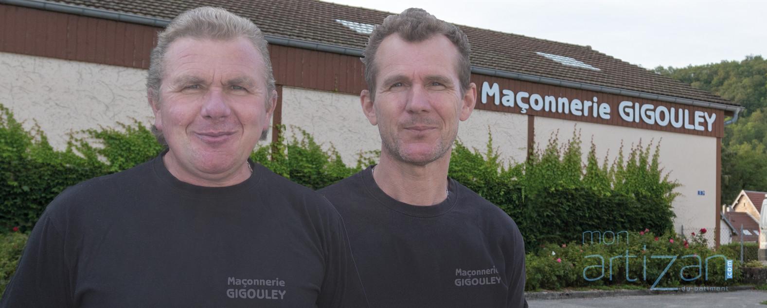 Maçonnerie Gigouley, Christian et Régis dits «Les Gigous»