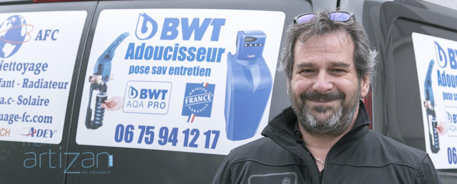 Éric Grut, spécialiste du désembouage hydrodynamique (chauffage)